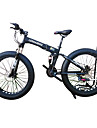 Velo pliant Velo de Neige Cyclisme 21 Vitesse 26 pouces/700CC 40 mm SHIMANO 51-7 Frein a Double Disque Fourche de suspensionSuspension
