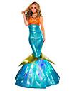 Costumes de Cosplay Costume de Soiree Princesse Sirene Conte de Fee Fete / Celebration Deguisement d\'Halloween Bleu Retro RobeHalloween