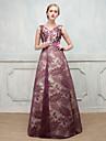 Rochie de bal v-gât podea lungime dantelă spațiu rochie de bumbac formală seara cu stras
