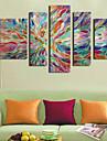 Impression d\'Art Abstrait Moderne,Cinq Panneaux Format Horizontal Imprime Decoration murale For Decoration d\'interieur