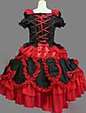 One-piece/Klänning Gotisk Lolita Lolita Cosplay Lolita-klänning Vintage Holk Kortärmad Kort / Mini Klänning För