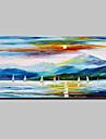 Pictat manual Peisaje Abstracte Orizontal,Modern Stil European Un Panou Canava Hang-pictate pictură în ulei For Pagina de decorare