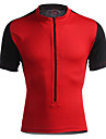 Jaggad Maillot de Cyclisme Homme Femme Unisexe Manches Courtes Velo Maillot Hauts/Tops Sechage rapide Respirable Polyester Elasthanne