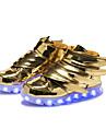 Băieți Adidași Pantofi Usori Sintetic Toamnă Iarnă Casual Party & Seară Pantofi Usori Cârlig & Buclă LED Toc Plat Auriu Negru Plat