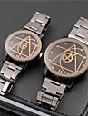 Pentru cupluri Ceas La Modă Ceas de Mână Unic Creative ceas Chineză Quartz Oțel inoxidabil Bandă Vintage Casual Argint