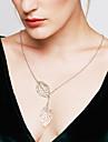 Pentru femei Coliere cu Pandativ Leaf Shape Plastic Ajustabile La modă Argintiu Auriu Bijuterii Pentru Nuntă Petrecere Zilnic Casual 1 buc