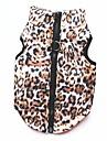 Pisici Câine Haine Tricou Hanorca Γιλέκο Îmbrăcăminte Câini Petrecere Casul/Zilnic Keep Warm Sport Leopard Leopard