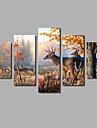 Set Canava Abstract,Cinci Panouri Canava Imprimeu Decor de perete For Pagina de decorare