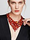 Pentru femei Coliere Coliere cu Pieptar Bijuterii Piatră Preţioasă Cristal La modă European bijuterii de lux Bijuterii Statement Elegant