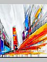 Peint a la main Architecture Moderne/Contemporain Un Panneau Toile Peinture a l\'huile Hang-peint For Decoration d\'interieur