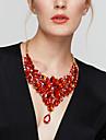 Pentru femei Coliere Coliere cu Pieptar Flower Shape Piatră Preţioasă Reșină La modă European bijuterii de lux ElegantGri Trandafiriu