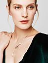 Pentru femei Coliere cu Pandativ Κολιέ με Πέρλες Leaf Shape Perle Imitație de Perle Aliaj Design Basic Ajustabile La modă Bijuterii Pentru