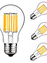 10W Ampoules a Filament LED A60(A19) 10 COB 900 lm Blanc Chaud Blanc Froid Decorative AC 175-265 V 4 pieces