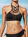 Bijuterii de corp/Corp lanț / burtă lanț Colier ham Aliaj Reșină Others Strat dublu Bikini La modă Sexy Incrucisarea Auriu Argint 1 buc