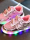 Fete Adidași Pantofi Usori Tul Imitație de Piele Primăvară Vară Toamnă Casual Plimbare Pantofi Usori Bandă Magică LED Toc JosAuriu
