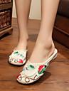 Damă Pantofi Țesătură Vară Confortabili Sandale Pentru Casual Negru Bej Rosu