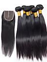 Tissages de cheveux humains Cheveux Bresiliens Raide 6 Mois 6 tissages de cheveux kg Meches Rapides