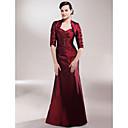 Lanting Bride® A-Linie Větší velikosti / Malé Šaty pro matku nevěsty - Včetně bolerka Na zem Poloviční rukáv Taft - Korálky / Boční
