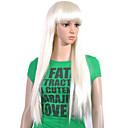 nadolijevanja extra dugo najviše ocjene kvalitete sintetička bijeli ravna kosa vlasulja