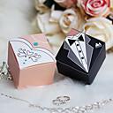 12 ks / set Držák laskavost - kubický karta papírové krabice přízeň nevěsta& ženich