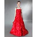 Lanting Bride® Do poda Organza / Saten Haljina za malu djeverušu A-kroj / Princeza Tanke naramenice Prirodni struk sPerlice / Cvijeće /