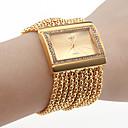 女性のダイヤモンドのブレスレット風の腕時計(ゴールド)