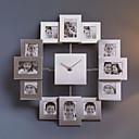 """15,75 """"h fotorámeček metal mute nástěnné hodiny"""