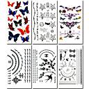 6 ks šperky a motýl smíšené dočasné tetování