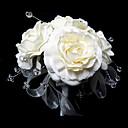 "Cvijeće za vjenčanje Krug Roses Buketi Vjenčanje Saten / Kristal Obala 9.84 ""(Approx.25cm)"