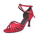 Non Přizpůsobitelné - Dámské - Taneční boty - Latina / Taneční sál - Satén - Jehlový podpatek - Zlatá / Červená