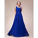 Lanting-line plus veličine / mali majka mladenka haljina - kraljevski plava do poda šifon rukava
