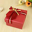 crveni i zlatni bračni pramčani korist box (set od 6)