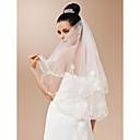 Vjenčani velovi One-tier Prsta Burke Cut Edge 47.24 u (120cm) Til Bijela SlonovačaRetka, Ball haljina, princeza, Plašt / stupac, Truba /