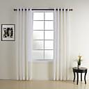 moderno plaid camera da letto / controllare bianco due pannelli tende trasparenti sfumature