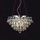 pendenti di cristallo luci goccia con 8 luci di forma rotonda