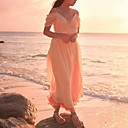Robe Aux femmes Ample Couleur Pleine A Bretelles / Surplis