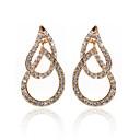 18K pozlatom jasna vještački dijamant & kristala Naušnice