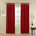 dva panely červený proužek window poly bavlna směs záclony závěsy