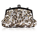 Elegant Satin with Acryl Diamonds Evening Handbag/Clutches
