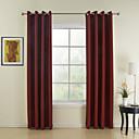 Dva panely Window Léčba Moderní , Jednolitý Jídelna Polyester Materiál záclony závěsy Home dekorace For Okno
