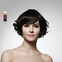 キャップレスあごの長さは、100%の人間の毛髪の性質を見て巻き毛のかつらの5色を選択する
