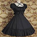 kratkih rukava koljeno duljine čista boja pamuka classic lolita haljina
