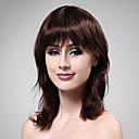capless středně dlouhá 100% lidské vlasy hluboko víno vlasy paruka