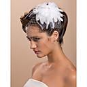 splendida piuma con strass grande copricapo da sposa in tulle