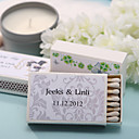 Wedding Décor Personalized Matchboxes - Elegant Print (Set of 12)