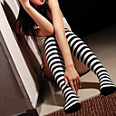 Ponožky a punčochy Klasická a tradiční lolita Lolita Bílá / Černá Lolita Příslušenství Punčocháče Proužky Pro Dámské elastan / Nylon