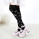 Ponožky a punčochy Sweet Lolita Lolita Lolita Černá / Růžová Lolita Příslušenství Punčocháče Tisk Pro Dámské Bavlna