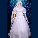 Inspirirana Sailor Moon Sailor Moon Anime Cosplay Kostimi Cosplay Suits / Dresses Kolaž Bijela Kratki rukav Haljina / Headpiece / Gloves