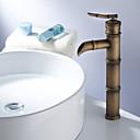 Art Deco / Retro Nadgradni umivaonik Jedan Ručka jedna rupa in Antique Brass Kupaonica Sudoper pipa