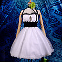 Inspirirana Vocaloid Gumi Video igra Cosplay Kostimi Cosplay Suits / Dresses Kolaž Bijela Bez rukava Haljina / Headpiece